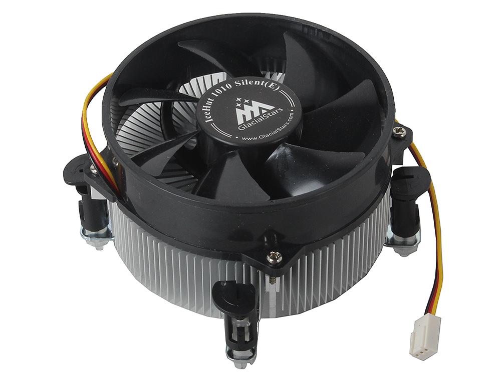 Кулер для процессора Glacialtech IceHut 1010 Silent 1150/1156/1155/ 82W/ 1500RPM/ 20dBa/ втулка/ ОЕМ/ 1.08W цена