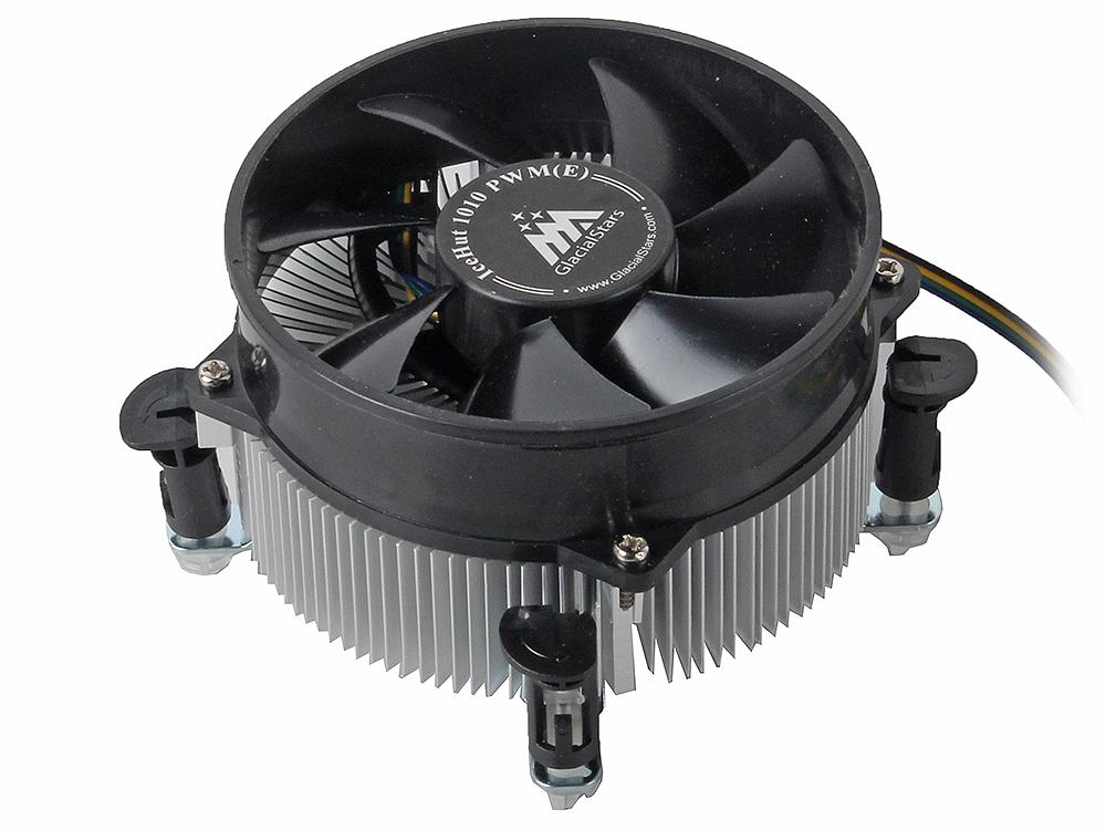 Кулер для процессора GlacialTech IceHut 1010 PWM Intel s1156, 1155/ 95W/ 1000-2800 RPM/ 18-35dBa/ втулка/ ОЕМ/ 3.0W max