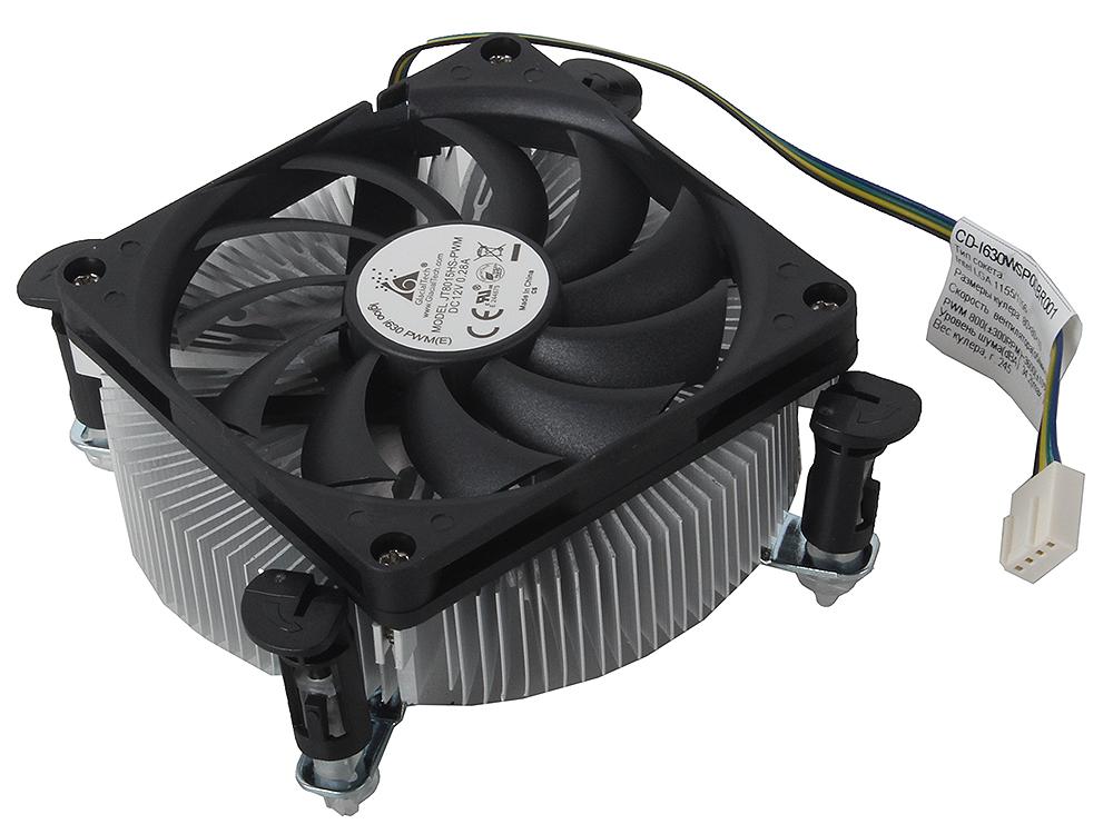 Кулер для процессора Glacialtech Igloo i630 PWM Кулер для процессора Intel LGA1156,1155/800-3600RPM/95W/34.2dBa max/Low Profile 36mm/втулка/ОЕМ/2.5W кулер thermaltake silent 1156 clp0552 1156 fan 9 cm 800 1700 rpm