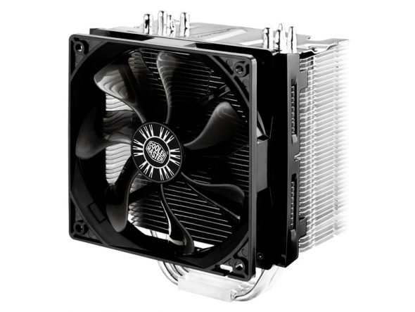 Кулер для процессора Cooler Master Hyper 412S (RR-H412-13FK-R1) универсальный TDP 250W 22.5dBA RTL блок питания accord atx 1000w gold acc 1000w 80g 80 gold 24 8 4 4pin apfc 140mm fan 7xsata rtl