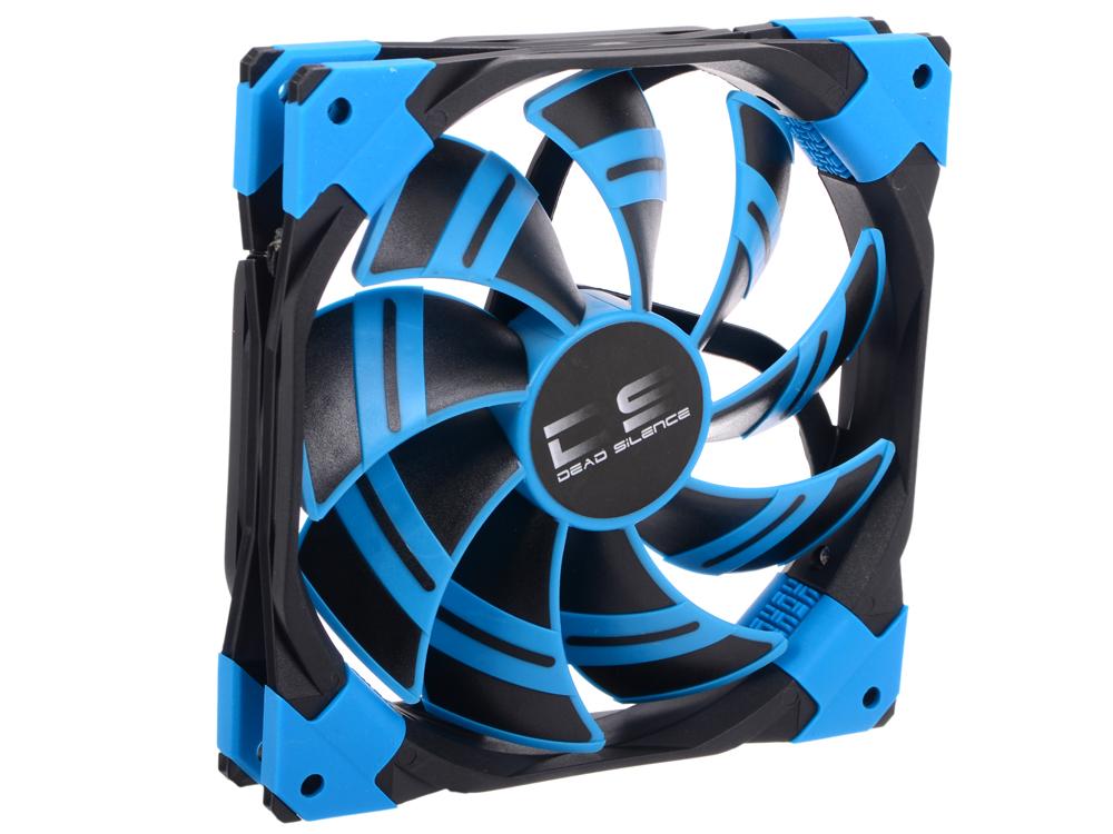 Вентилятор Aerocool DS 14см Blue (синяя подсветка), 3+4 pin, 64.8 CFM, 1000 RPM, 14.2 dBA при 12V и 39.8 CFM, 700 RPM, 10.8 dBA при