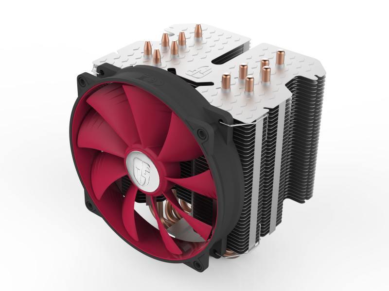 Кулер для процессора DeepCool REDHAT (Soc-AMD/1150/1155/1156/2011/ 4pin 12-31dB Al+Cu 250W 1079g screw ultra-silent)