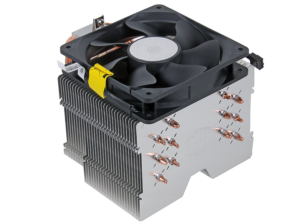 Кулер для процессора Cooler Master Hyper 612 ver. 2 (RR-H6V2-13PK-R1) 2011/1366/1156/1155/1150/775/ FM2+/FM2/FM1/AM3+/AM3/AM2+/AM2 fan 12 cm, 800-1300 RPM, PWM, 43 CF кулер thermaltake contac 16 clp0598 1155 1156 775 fm1 am3 am3 am2 am2 fan 9 cm 2400 rpm