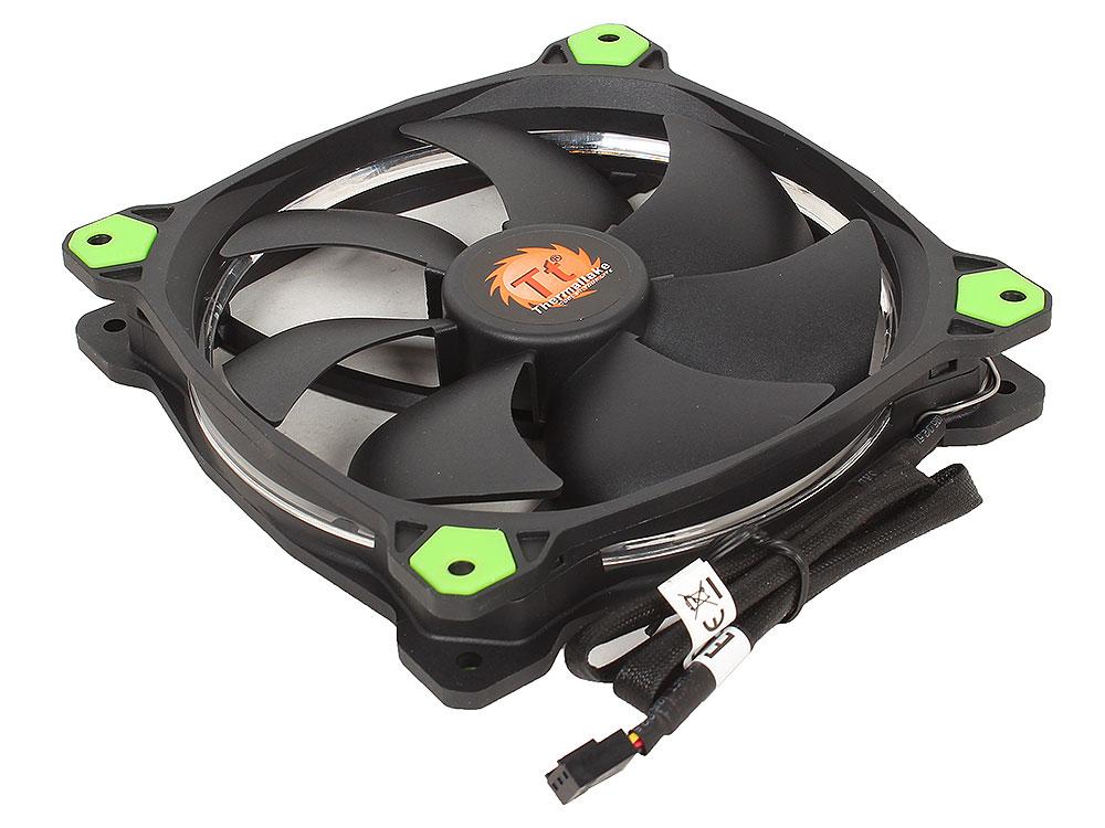 Вентилятор Thermaltake Riing 14 LED 140mm Green + LNC (CL-F039-PL14GR-A)