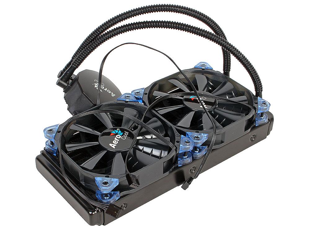 Система водяного охлаждения Aerocool Likai 240 , до 350W, PWM, 800-2000 RPM, 2х12см, LGA 2011/1156/1155/1150/1366/775, FM2/FM1/AM3+