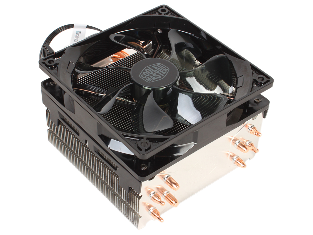 Кулер для процессора Cooler Master Hyper 212 LED (RR-212L-16PR-R1) 2011-3/2011/1156/1155/1151/1150/775/AM3+/AM3/AM2+/FM2+/FM2/FM1 fan 12 cm, 600-1600 RPM, 66.3 CFM free delivery ac230v 8 cm high quality axial flow fan cooling fan 8038 3 c 230 hb