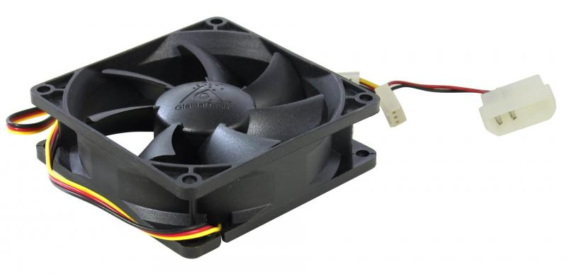 Вентилятор Glacialtech GT-8025-BDLA1 Ballbearing 80x80x25 3pin+4pin molex 21dB 90g OEM