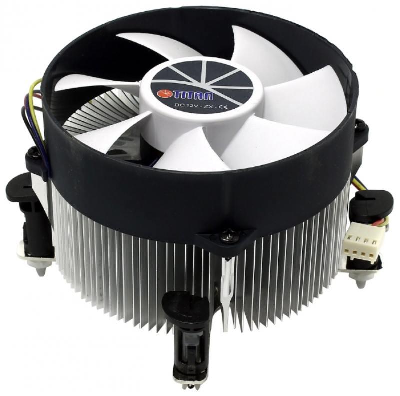 Кулер для процессора Titan TTC-NA02TZ/RPW1 Socket 1150/1155/1156 4pin 14-33dB Al 105W 427g клипсы Z-