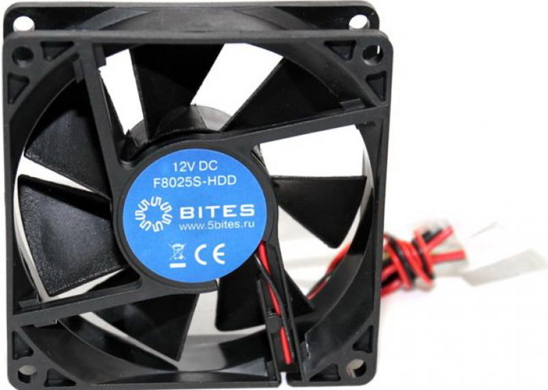 Вентилятор 5bites F8025S-2 80x80x25 2pin 23dB 2000rpm