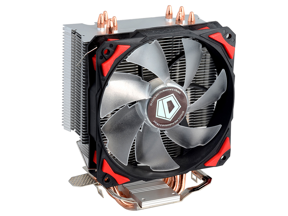 Кулер ID-Cooling SE-214 (130W/PWM/Red LED/ Intel 775,115*/AMD)
