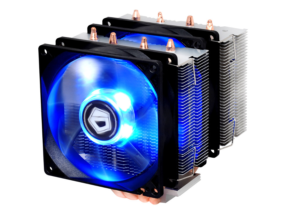 Кулер ID-Cooling SE-904TWIN (150W/Double fan/PWM/Blue LED/all Intel/AMD/Screws)