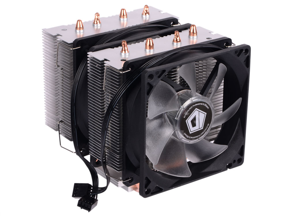 Кулер ID-Cooling SE-904TWIN (150W/Double fan/PWM/Blue LED/all Intel/AMD/Screws)