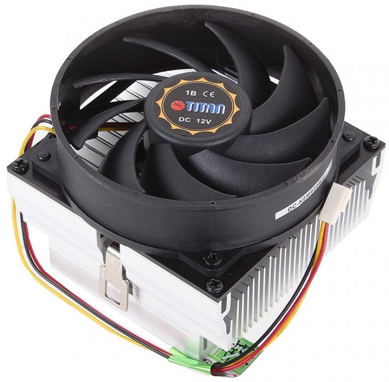 Кулер для процессора Titan Data Cooler DC-K8M925BR2 Socket 754/S939/AM2  Phenom ready 109W 93x93 Bal