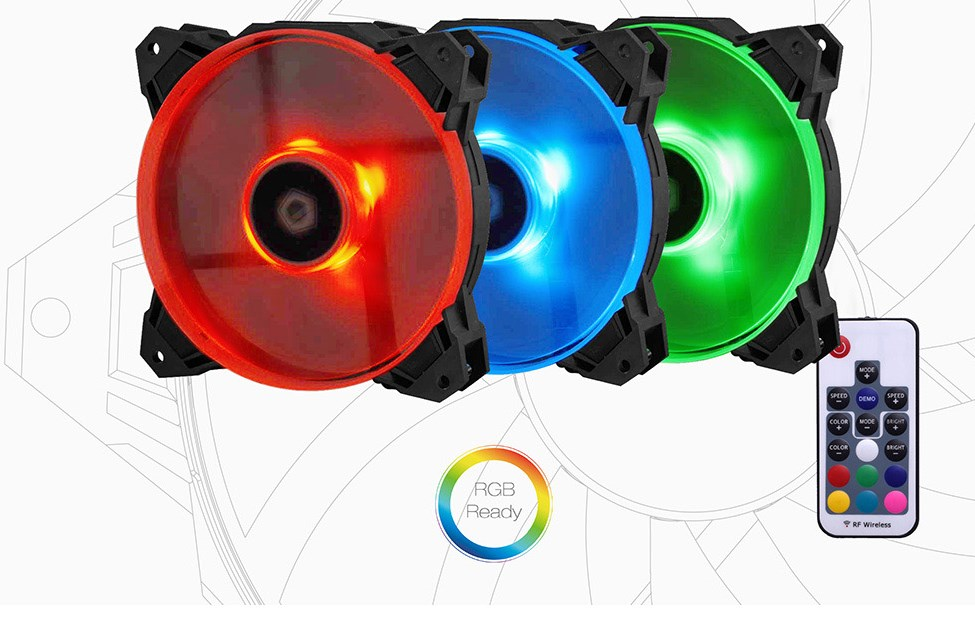 SF-12025-RGB-TRIO aluminum alloy rgb memory cooling vest ram cooling shell heatsink rgb 265 light effect memory coolingi radiator glow for desktop
