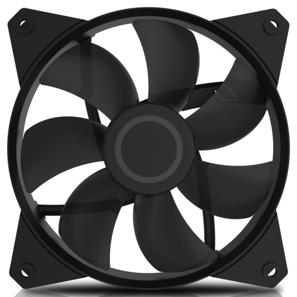 Кулер для корпуса 1 Ватт Cooler Master MF120L Non LED Fan, 3pin / R4-C1DS-12FK-R1 / universal silver 30 row transmission 10an oil cooler kit 7 inch electric fan