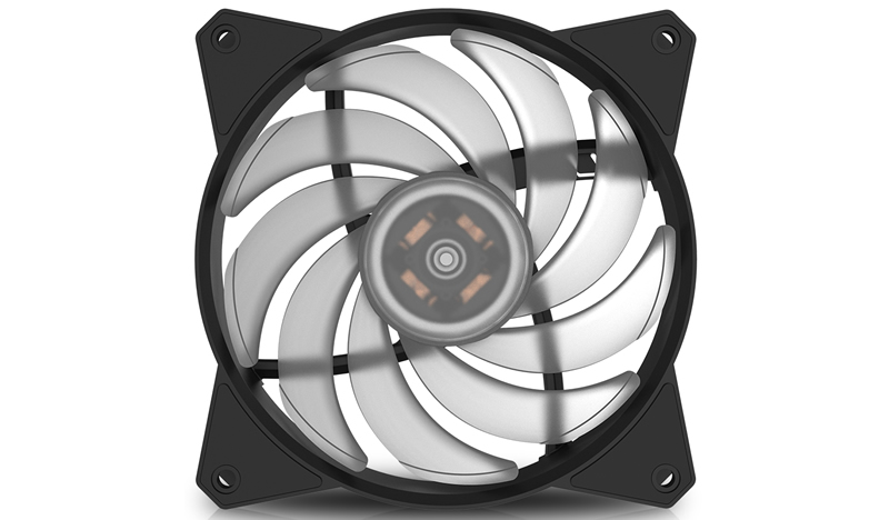 Кулер для корпуса 1 Ватт Cooler Master MF120R RGB LED Fan, PWM / R4-C1DS-20PC-R1 / universal silver 30 row transmission 10an oil cooler kit 7 inch electric fan