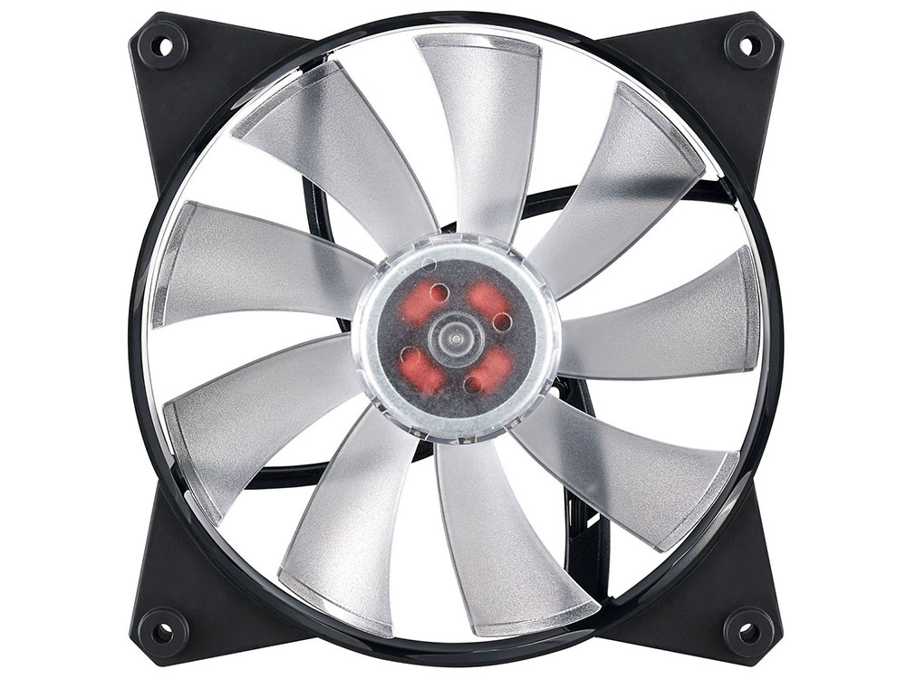Кулер для корпуса, 1 Ватт Cooler Master MasterFan Pro 140 Air Flow, 140mm, 4-Pin (PWM), RGB / MFY-F4DN-08NPC-R1 /