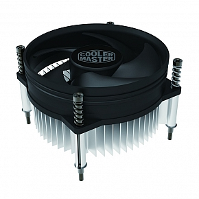 Кулер Cooler Master CPU Cooler I30 PWM, Intel 115*, 65W, Al, 4pin / RH-I30-26PK-R1 / cooler master cpu cooler i70c pwm intel 115 95w alcu blue led fan 4pin