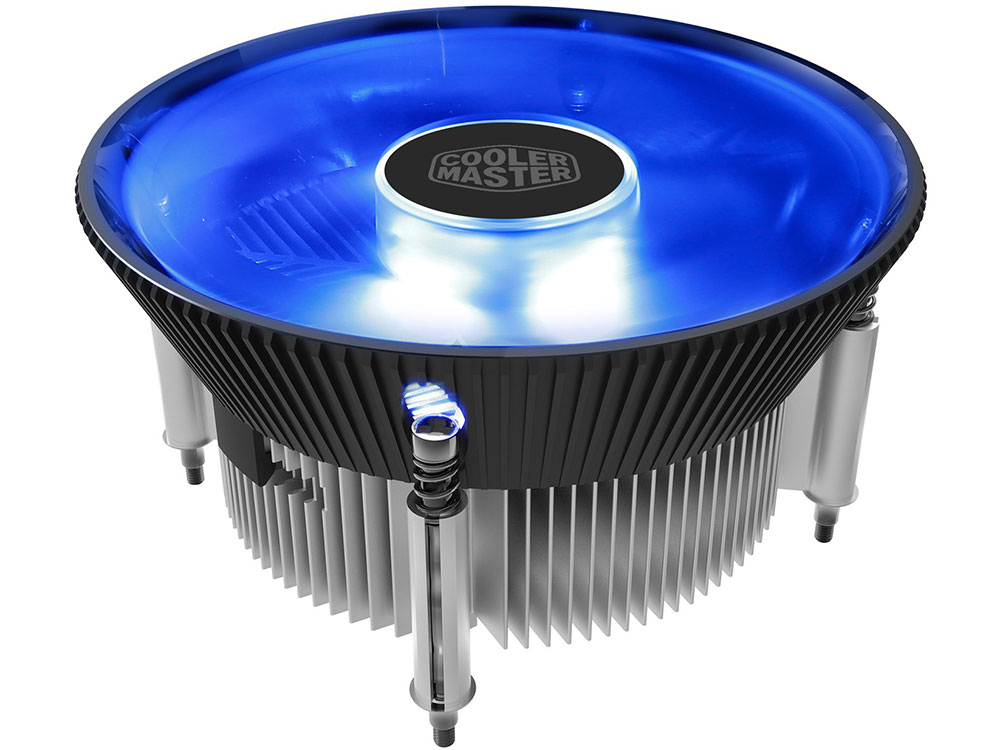 Кулер Cooler Master CPU Cooler I70C PWM, Intel 115*, 95W, AlCu, Blue LED fan, 4pin / RR-I70C-20PK-R2 / universal silver 30 row transmission 10an oil cooler kit 7 inch electric fan