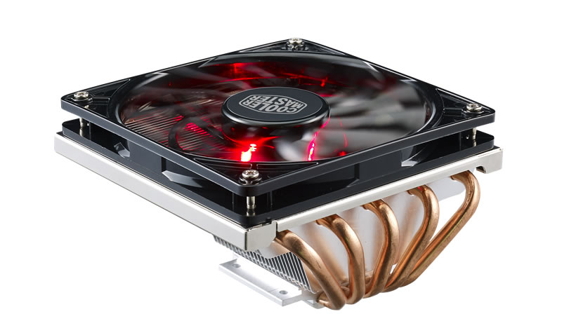Кулер Cooler Master CPU Cooler GeminII M5 LED, 500 - 1600 RPM, 130W, Low profile, Full Socket Support / RR-T520-16PK / 12v 3pin 120mmx120mmx25mm silen t computer cpu cooler small cooling fan pc black heat sink