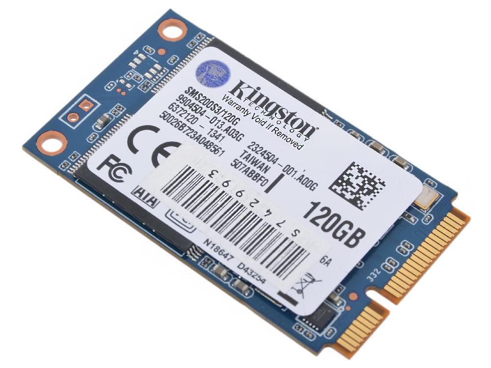 SMS200S3/120G kingston ssd твердотельный диск накопитель sms200s3 120g объем 120 гб подключение по sata iii или msata зав номер sms200s3 120g