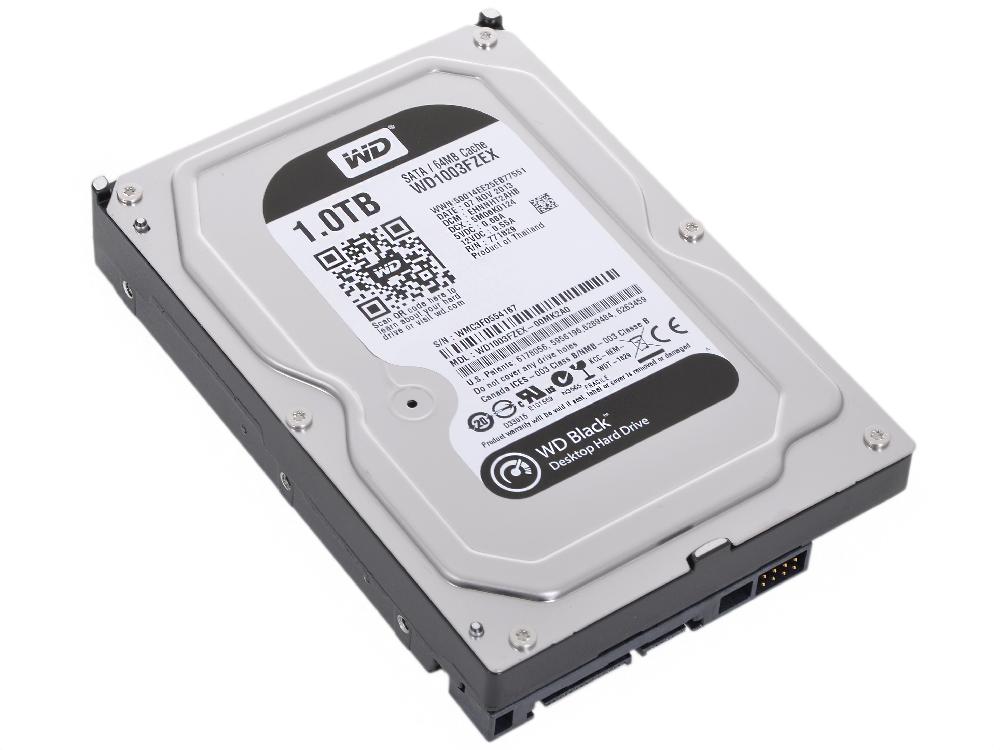 Жесткий диск 1Tb Western Digital WD1003FZEX  Black, SATA III [7200rpm, 64Mb]