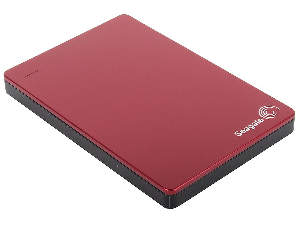 цена на Внешний жесткий диск Seagate Backup Plus Slim 1Tb Red (STDR1000203)