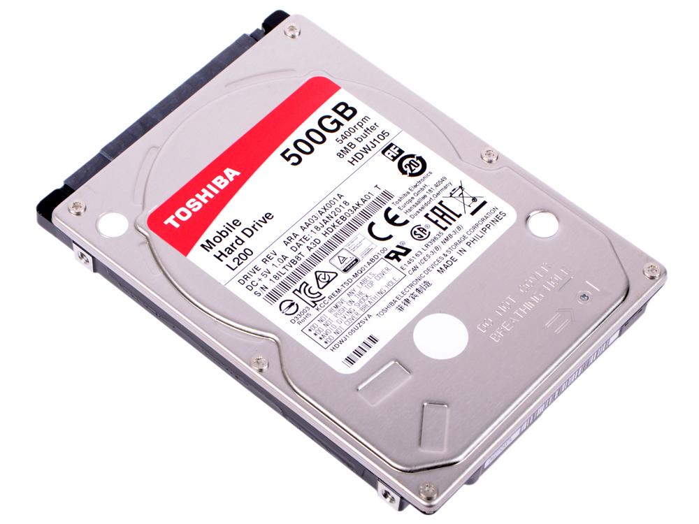 Жесткий диск для ноутбука 2.5 500 Gb 5400rpm 8Mb cache Toshiba HDWJ105UZSVA жесткий диск для ноутбука toshiba 500gb hdwj105ezsta hdwj105ezsta