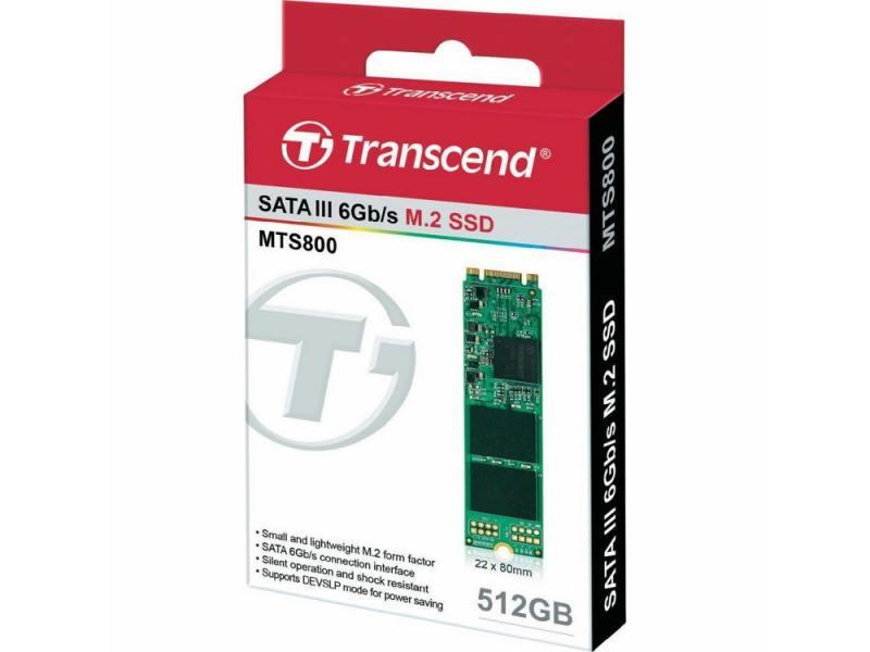 SSD Твердотельный накопитель M.2 512GB Transcend MTS800 SATA III/M.2 2280 цена