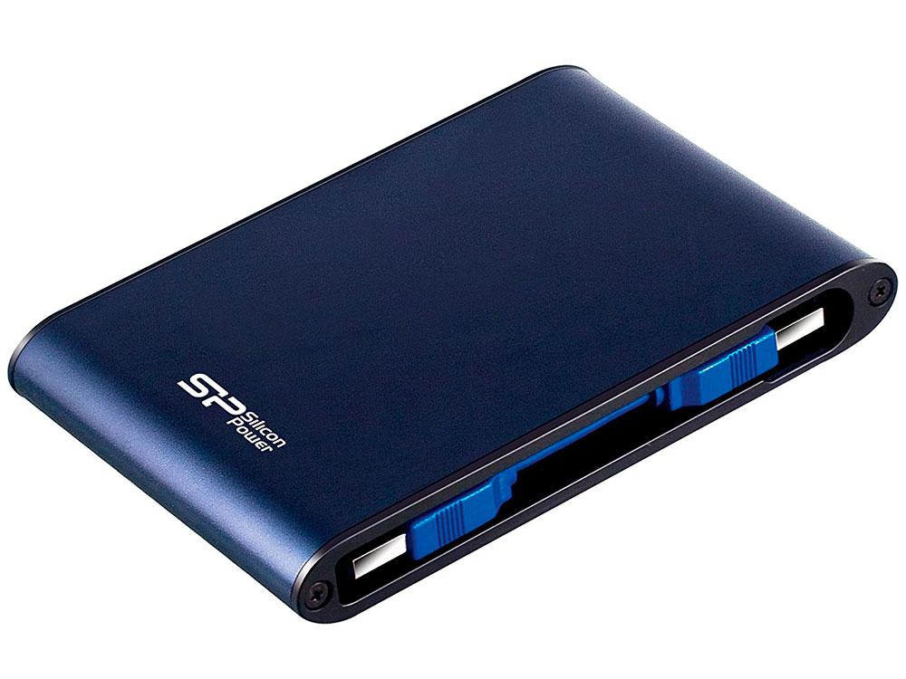 Внешний жесткий диск 2.5 USB3.0 2 Tb Silicon Power Armor A80 SP020TBPHDA80S3B синий armor a80 компании silicon power в украине