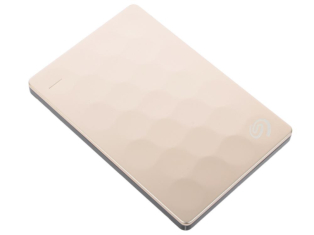 Фото - Внешний жесткий диск Seagate Backup Plus Ultra Slim 2Tb Gold (STEH2000201) seagate backup plus core 2tb 20 летие gold edition usb3 0 2 5 дюймовый жесткий диск stdr2000307