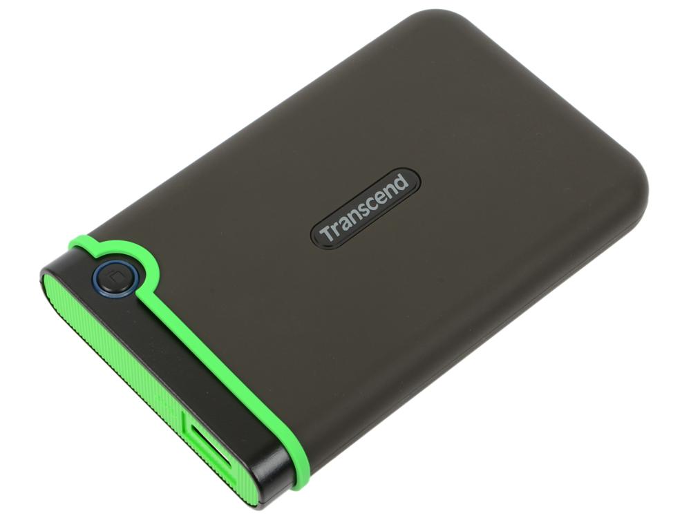 Внешний жесткий диск Transcend StoreJet 25MC 1Tb Grey (TS1TSJ25MC) внешний жесткий диск transcend storejet 25m3 ts1tsj25m3 1тб черный