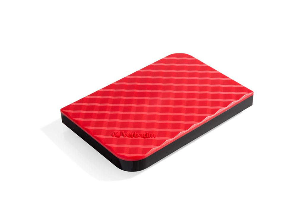 Внешний жесткий диск 2.5 USB3.0 1Tb Verbatim Store n Go красный 53203 внешний жесткий диск 2 5 usb3 0 1tb verbatim store n go черный 53023