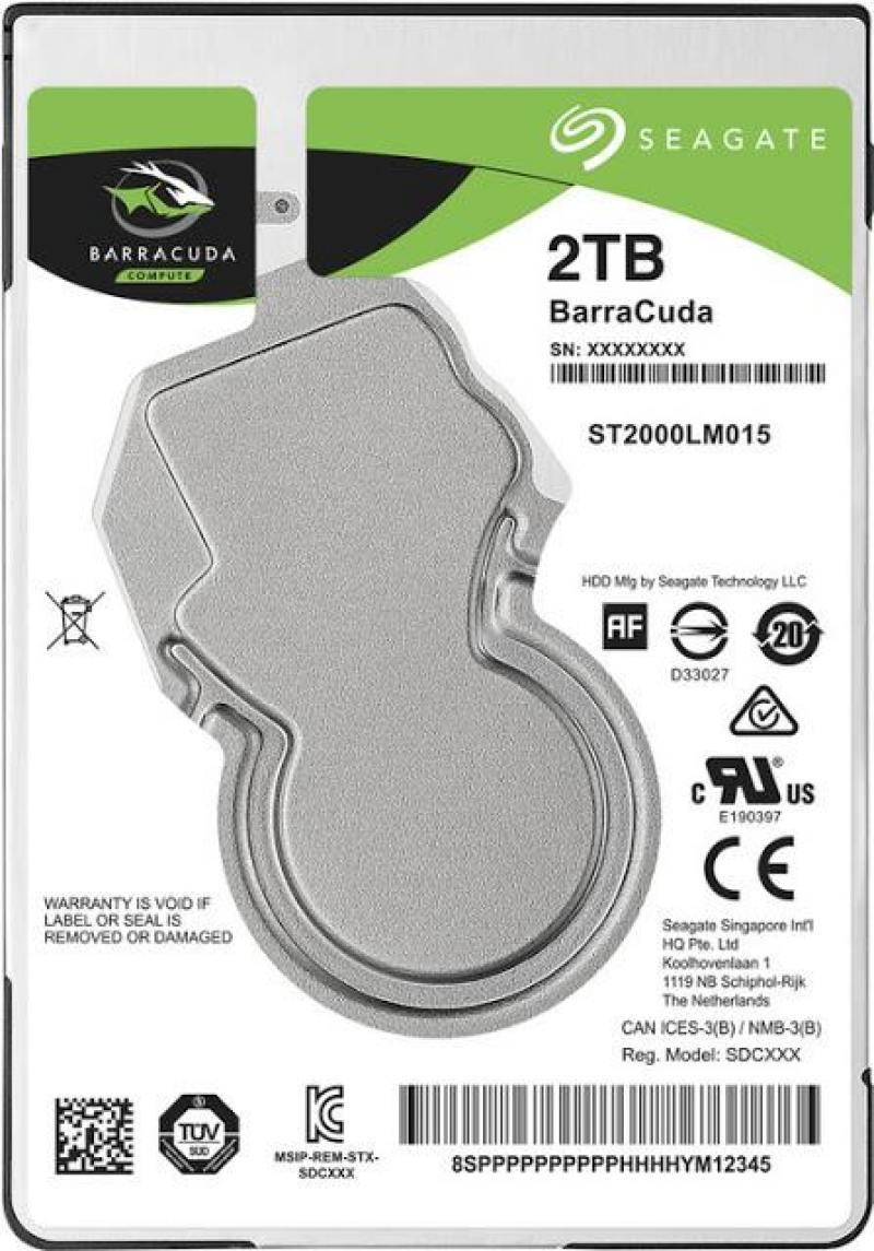 Жесткий диск для ноутбука 2.5 2Tb 5400rpm 128Mb cache Seagate Barracuda SATAIII ST2000LM015 жесткий диск 3 5 8 tb 5400rpm 128mb cache western digital purple sataiii wd80purz