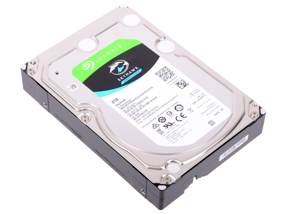 Жесткий диск Seagate SkyHawk ST8000VX0022 8 Tb SATA III/3.5/7200 rpm/256MB жесткий диск hdd 6тб seagate skyhawk st6000vx0023