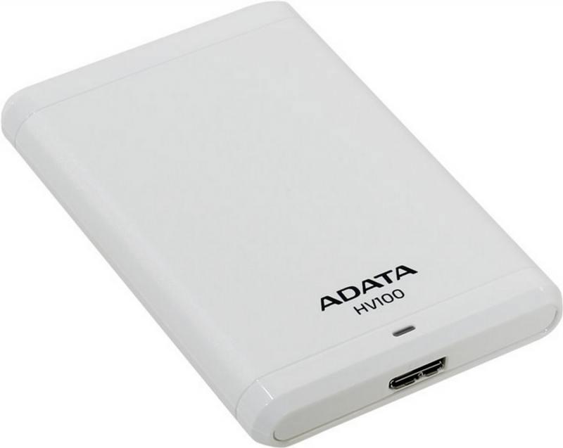 Внешний жесткий диск 2.5 USB3.0 1Tb A-Data HV100 AHV100-1TU3-CWH белый жесткий диск a data classic hv100 1tb usb 3 0 black ahv100 1tu3 cbk