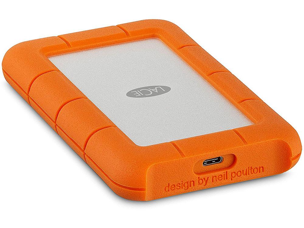 Внешний жесткий диск 2.5 USB-C 1Tb Lacie Rugged Mini STFR1000800 оранжевый lacie rugged mini 2tb внешний жесткий диск