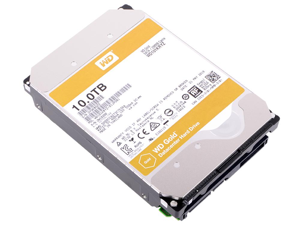 Жесткий диск 3.5 10Tb 7200rpm Western Digital WD Gold SATAIII WD101KRYZ жесткий диск 3 5 10tb 5400rpm western digital wd red sataiii wd100efax