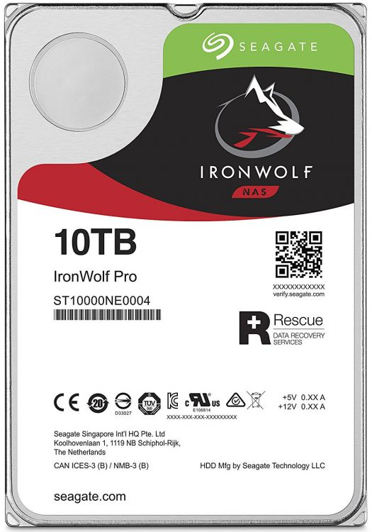 Жесткий диск Seagate Ironwolf Pro ST10000NE0004 10 TB SATA III/3.5/7200 rpm/256MB жесткий диск 12tb seagate ironwolf pro st12000ne0007