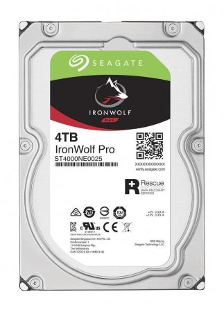 Жесткий диск 3.5 4Tb 7200rpm Seagate IronWolf Pro SATAIII ST4000NE0025 жесткий диск 10tb seagate ironwolf pro st10000ne0004