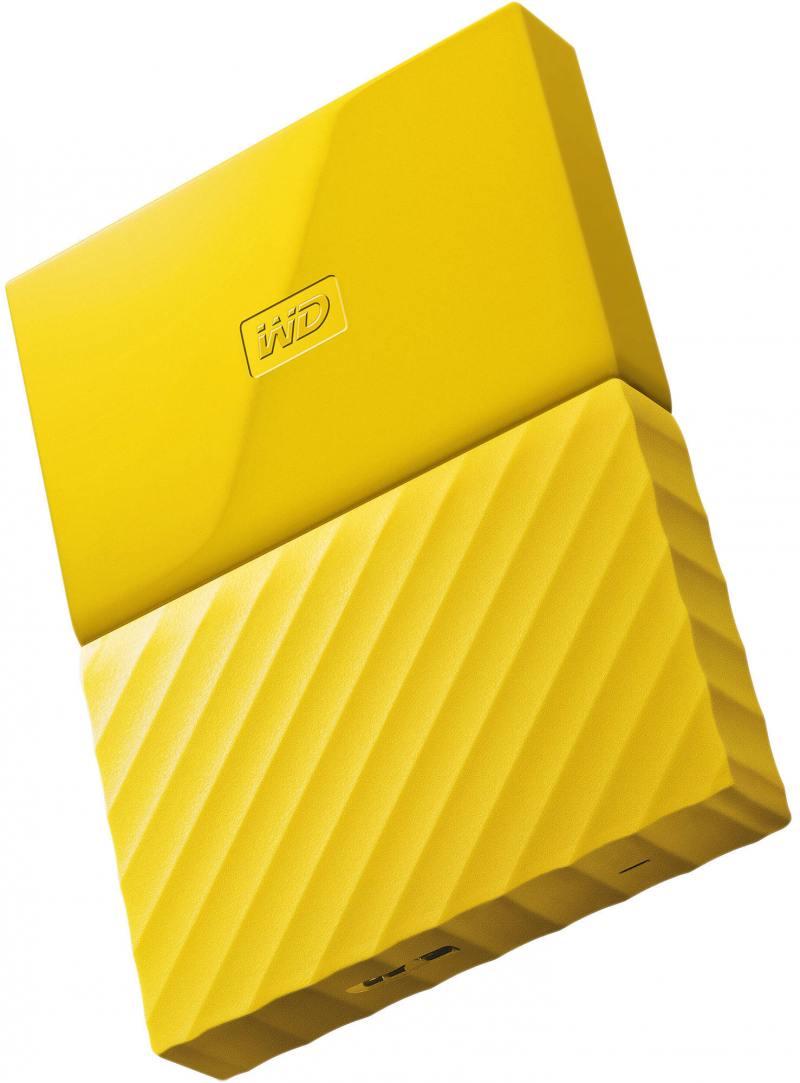 Внешний жесткий диск 2.5 USB3.0 1 Tb Western Digital My Passport WDBBEX0010BYL-EEUE желтый жесткий диск western digital my passport 2 5 4tb usb 3 0 black wdbuax0040bbk eeue