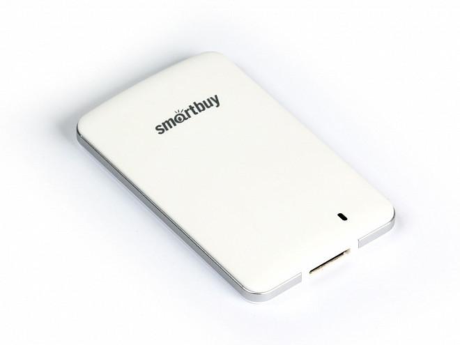Внешний жесткий диск 2.5 USB3.0 SSD 128Gb SmartBuy S3 SB128GB-S3DW-18SU30 белый usb flash накопитель 128gb kingston hyperx hxs3 128gb usb3 1 черный