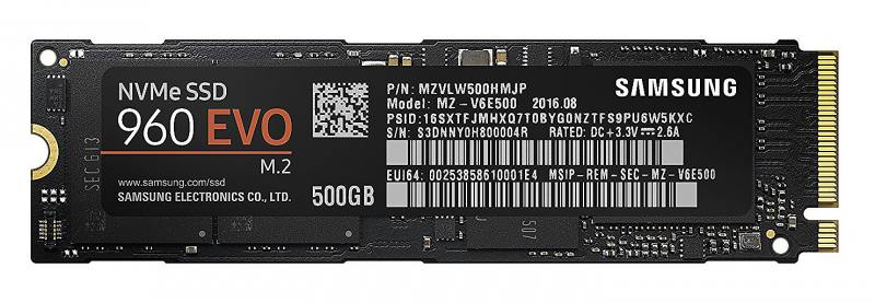 SSD Твердотельный накопитель M.2 500Gb Samsung 960 EVO Read 3200Mb/s Write 1800Mb/s PCI-E MZ-V6E500B твердотельный накопитель ssd m 2 500gb samsung 960 evo read 3200mb s write 1800mb s pci e mz v6e500bw