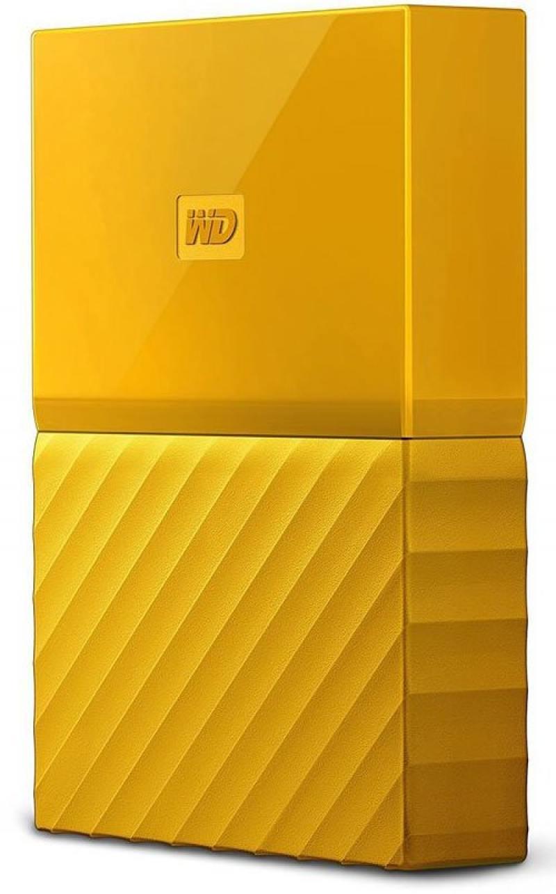 Внешний жесткий диск 2.5 USB3.0 4 Tb Western Digital My Passport WDBUAX0040BYL-EEUE желтый жесткий диск western digital my passport 2 5 4tb usb 3 0 black wdbuax0040bbk eeue