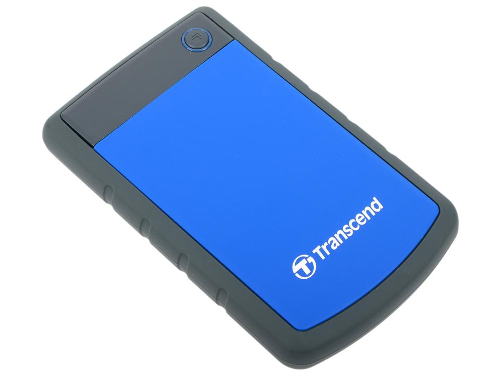 Внешний жесткий диск 2.5 USB3.0 2Tb Transcend TS2TSJ25H3B синий внешний жесткий диск hdd transcend usb 3 0 2tb ts2tsj 25 a3k 2 5 черный