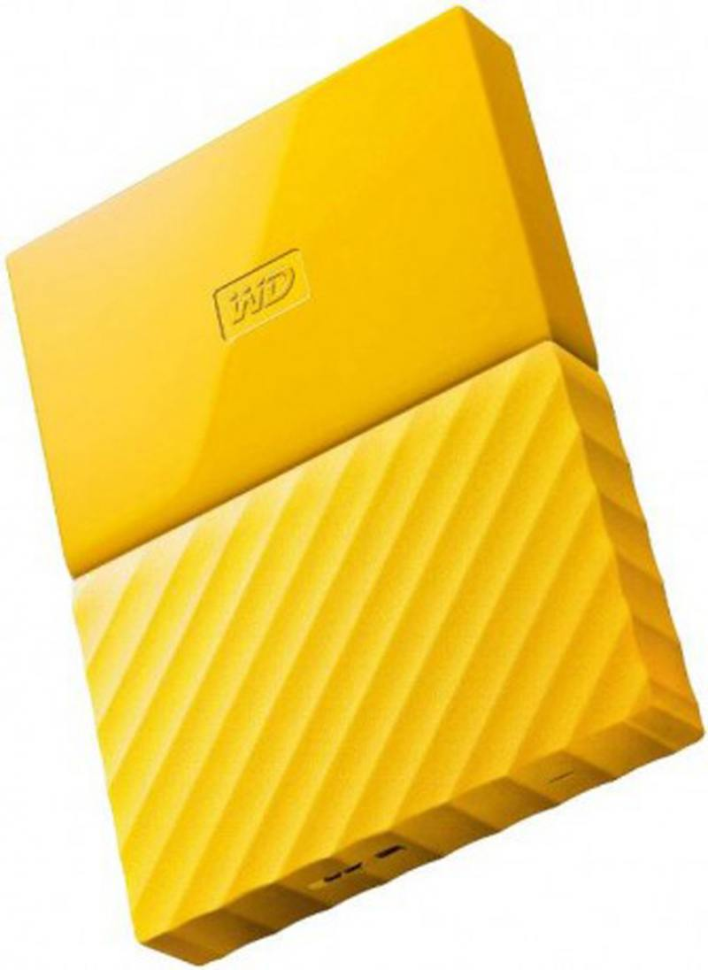 Внешний жесткий диск 2.5 USB3.0 3 Tb Western Digital My Passport Ultra WDBUAX0030BYL-EEUE желтый жесткий диск western digital my passport 2 5 4tb usb 3 0 black wdbuax0040bbk eeue
