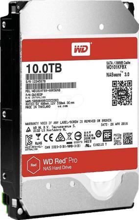 Жесткий диск Western Digital Red Pro WD101KFBX 10TB SATA III/3.5/7200 rpm/256MB жесткий диск серверный western digital 10tb wd101kryz wd101kryz