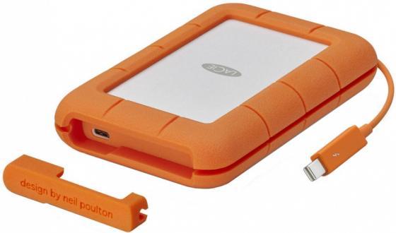 Внешний жесткий диск 2.5 Thunderbolt 1Tb Lacie Rugged STFS1000401 оранжевый внешний жесткий диск 2 5 usb3 0 1tb lacie mirror 9000574 серебристый