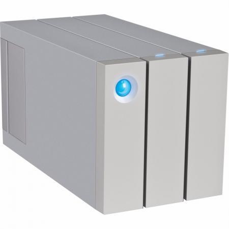 Внешний жесткий диск 3.5 USB3.0 12Tb Lacie 2big Thunderbolt2 STEY12000400 серебристый внешний жесткий диск lacie d2 stex4000400 4тб серебристый