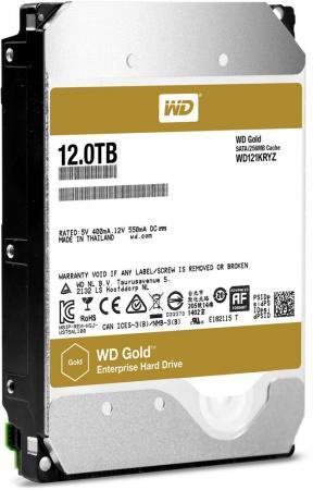 Жесткий диск Western Digital Gold WD121KRYZ 12Tb SATA III/3.5/7200 rpm dc 7200 2 0 tft lcd 5 0 mp cmos digital camera camcorder with 4x digital zoom sd card slot yellow